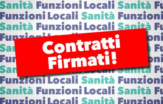 Firmati contratti Sanità e Funzioni Locali, riparte contrattazione