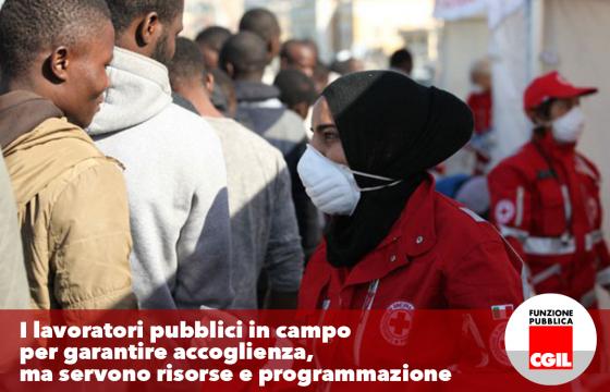 Migranti: Sorrentino (Fp Cgil), lavoratori pubblici in campo per garantire accoglienza ma servono risorse e programmazione