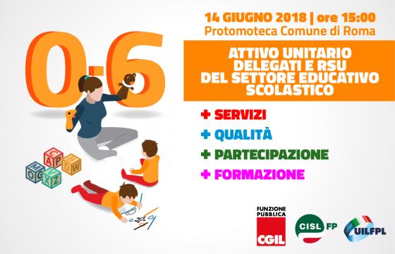 Scuola: Cgil Cisl Uil, 14 giugno attivo settore educativo scolastico su sistema 0-6