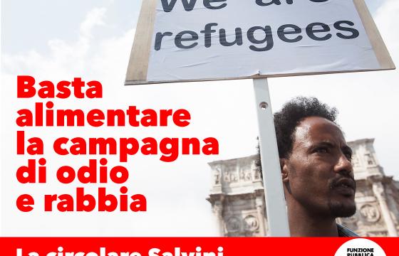 Migranti: Fp Cgil, circolare Salvini è stretta intollerabile