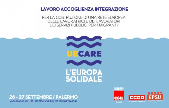 Immigrazione: Fp Cgil, a settembre a Palermo iniziativa europea 'UeCare'