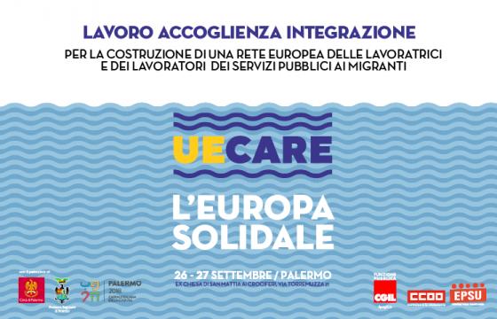 Immigrazione: Fp Cgil promuove 'UeCare – L'Europa Solidale ', 26 e 27 settembre a Palermo