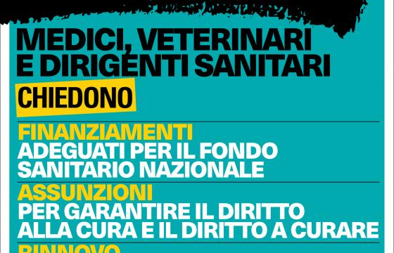 Medici: sciopero nazionale venerdì 23 novembre