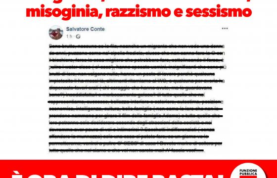 Post offende donne su Fb: Fp Cgil, vergognoso, dirigente venga rimosso
