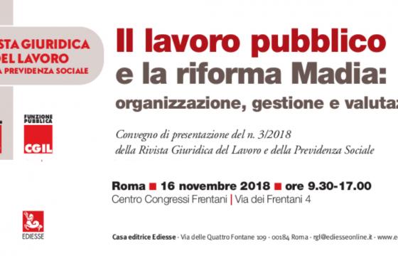 Pa: Cgil, domani a Roma convegno su lavoro pubblico e riforma Madia