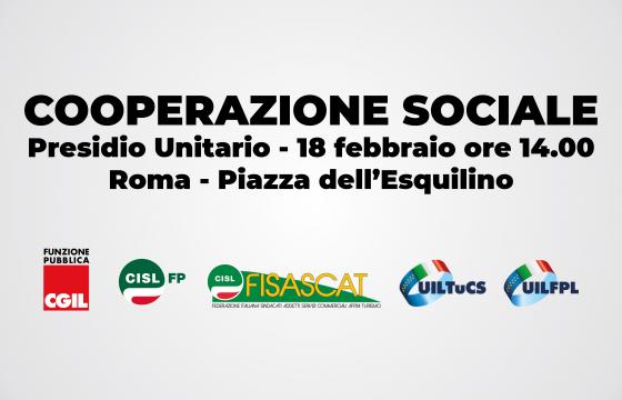 Contratti, 18 febbraio presidio per il rinnovo della Cooperazione Sociale