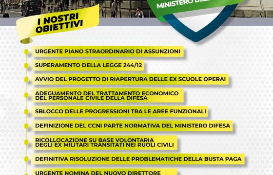 Difesa, 17 aprile assemblea nazionale unitaria a Roma