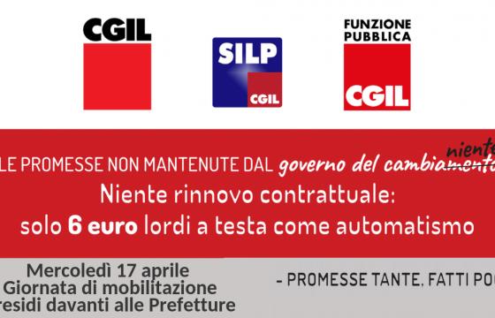 Contratti: Cgil-Fp-Silp, niente rinnovo per Polizia, domani in piazza