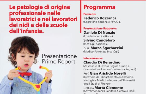 Scuola: Fp e Inca Cgil, domani a Firenze presentazione report su salute lavoratori nidi e scuole infanzia