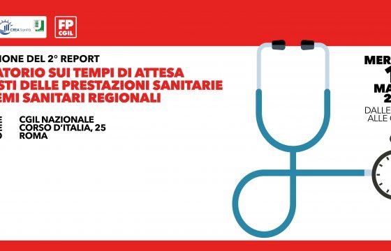 Sanità: Report Fp Cgil, nel pubblico liste d'attesa di 60 giorni medi
