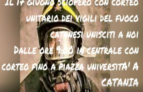 VVF: Catania – 17 Giugno '19 … Sciopero