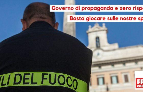 Fp Cgil Vvf, governo di propaganda, basta giocare con Vigili del Fuoco