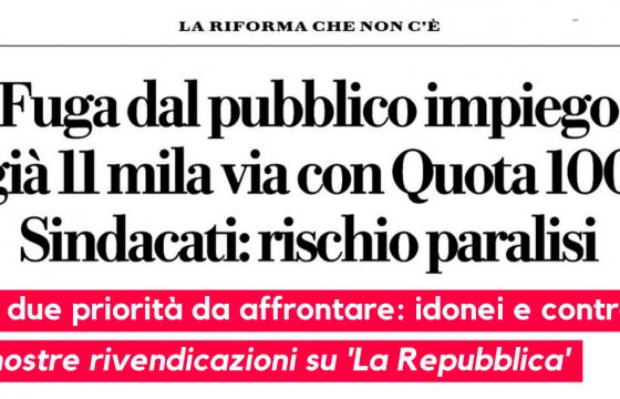 Fuga dal pubblico impiego, ne parla 'La Repubblica' con le nostre valutazioni