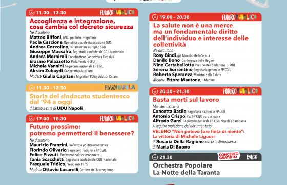 Fp Cgil, continua a Napoli EffePiù con Tridico e Speranza