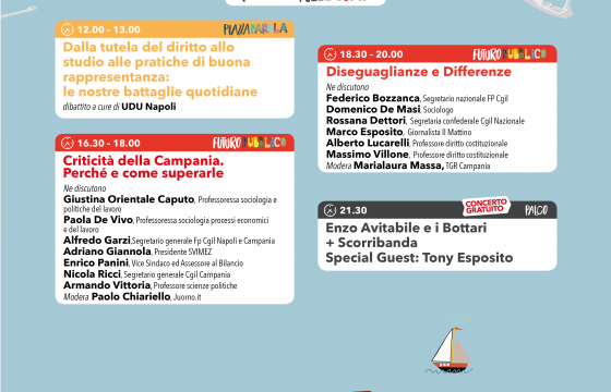 Fp Cgil, oggi a Napoli ultimo giorno, dibattiti sulla Campania