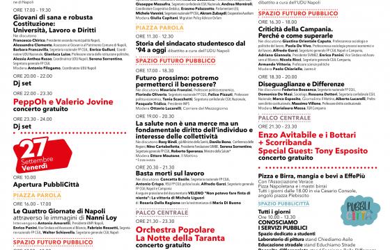 Orientati dalla Costituzione, dal 26 al 29 settembre a Napoli le Giornate nazionali dei Servizi Pubblici di Fp Cgil
