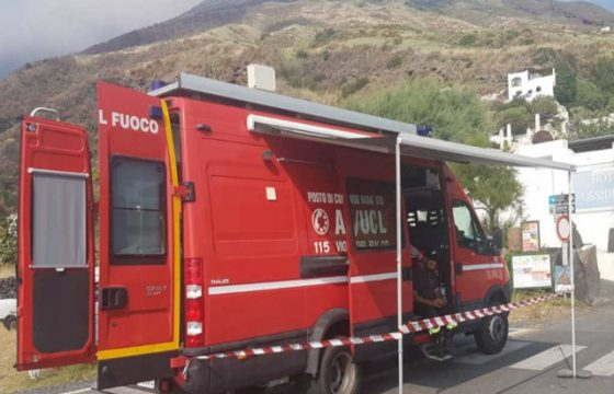 VVF: Messina – Organizzazione sede Lipari/Milazzo per emergenza Stromboli