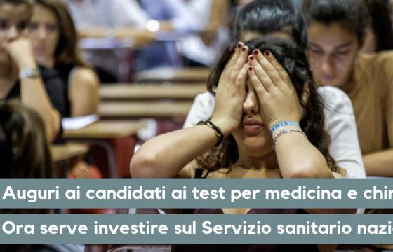 Fp Cgil Medici, auguri a candidati Medicina e Chirurgia, serve investire nel Ssn
