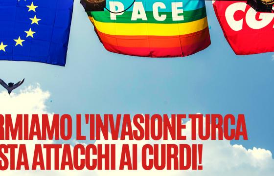 Fp Cgil: Fermiamo l'invasione turca, basta attacchi al popolo curdo!