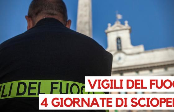 Vigili del Fuoco: Fp Cgil, programmate 4 giornate di sciopero nazionale unitario