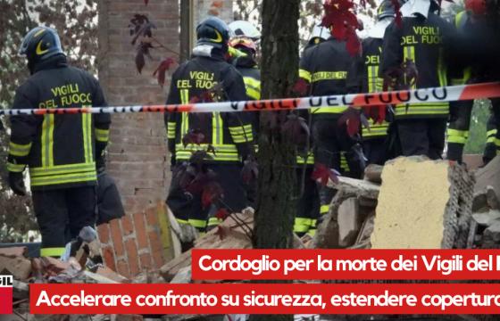Esplosione Alessandria: Cgil e Fp, cordoglio per morte VVF, accelerare confronto con Governo