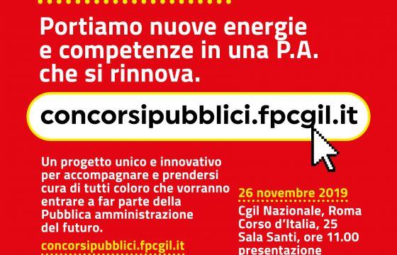 Pa: Cgil lancia concorsipubblici.fpcgil.it, 26 novembre presentazione a Roma con Landini