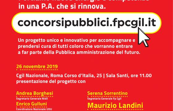 Nasce concorsipubblici.fpcgil.it, domani presentazione a Roma con Landini