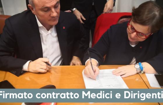 Fp Cgil, firma definitiva contratto per 130 mila medici e dirigenti Ssn