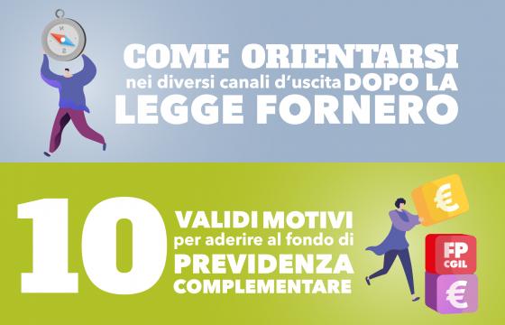 Da legge Fornero a previdenza complementare, due guide della Fp Cgil