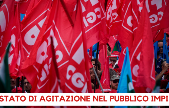 Cgil Cisl Uil proclamano stato di agitazione nel pubblico impiego