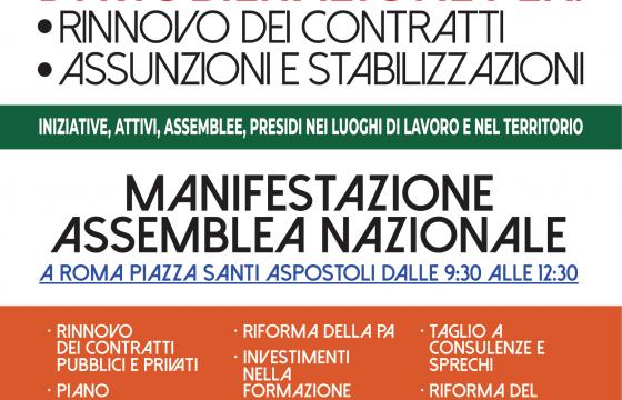 #FuturoAlLavoro, domani giornata di mobilitazione per contratti, assunzioni e risorse