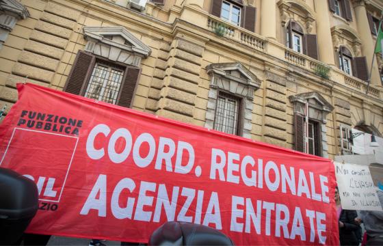 Grande successo protesta lavoratori Agenzie fiscali, 6 febbraio manifestazione