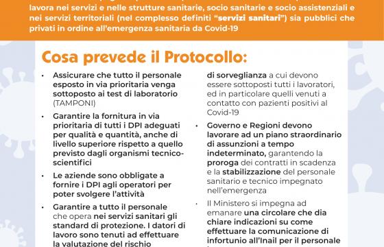Coronavirus, ecco cosa prevede protocollo sicurezza degli operatori dei servizi sanitari