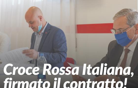 Firmato il rinnovo del contratto Croce Rossa Italiana