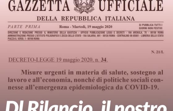 Dl Rilancio, il primo commento della Fp Cgil