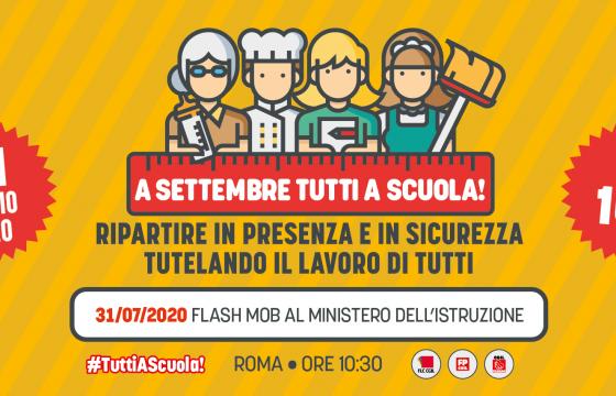 Scuola: Cgil, a settembre #tuttiascuola, domani flash mob a Roma