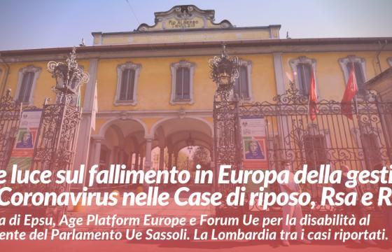 Coronavirus, fare luce sul fallimento della gestione dell'emergenza in Europa in Case di riposo, Rsa e Rsd