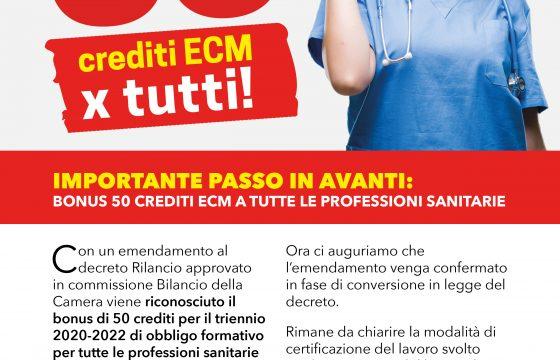 Dl Rilancio, approvato emendamento per riconoscere bonus 50 crediti Ecm a tutte le professioni sanitarie