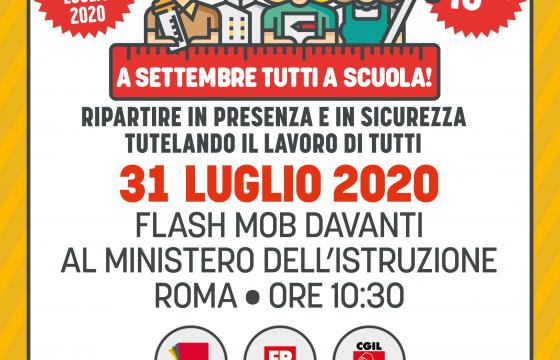 'A settembre tutti a scuola', flash mob 31 luglio davanti Miur