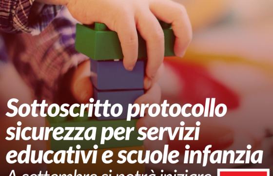 Cgil, Cisl, Uil, sottoscritto protocollo sicurezza per servizi educativi e scuole infanzia