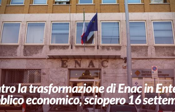De Micheli annuncia riforma Enac contro interessi paese e lavoratori, 16 settembre sciopero