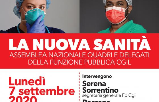 'La nuova Sanità', 7 settembre assemblea delegati e quadri Fp Cgil
