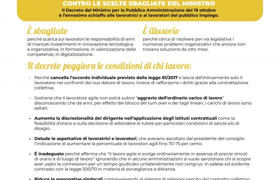 No al Decreto Dadone sullo smart working, al via mobilitazione