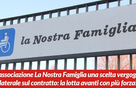 Sanità: Cgil Cisl Uil Fp, da Nostra Famiglia vergognoso atto unilaterale su contratto