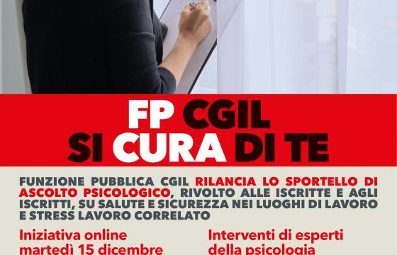 Fp Cgil rilancia Funzione Protettiva, diretta Fb il 15 dicembre