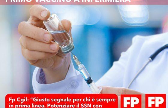 """Vaccine Day, Fp Cgil: """"Primo vaccino a infermiera giusto segnale per chi è sempre in prima linea"""""""