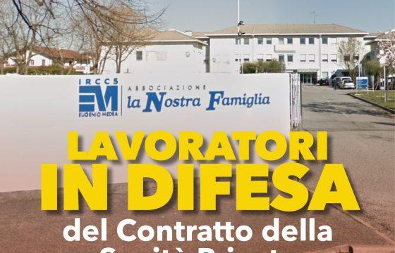La Nostra Famiglia, lavoratori in difesa del contratto della Sanità Privata