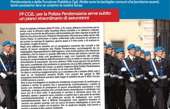 Fp Cgil Polizia Penitenziaria su iPol, serve piano straordinario assunzioni