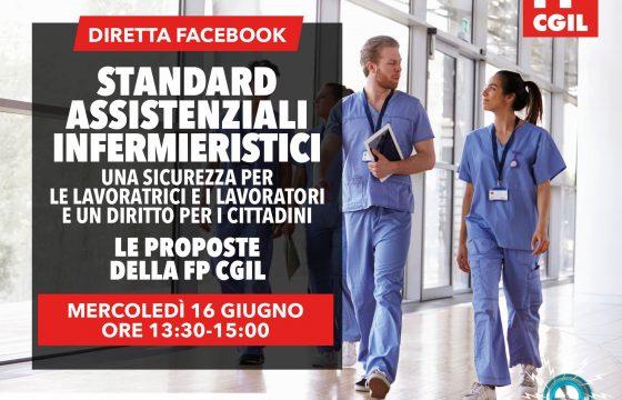 Sanità: Fp Cgil, 16 giugno iniziativa su Standard assistenziali infermieristici