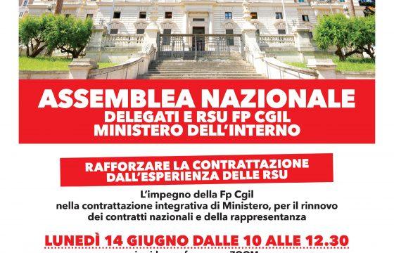 Ministero Interno: assemblea nazionale RSU FP CGIL